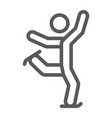 figure skating line icon sport and skate ice vector image vector image