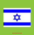 flag of israel icon different color vector image vector image