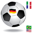 football ball with flags vector image
