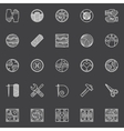 Hand made white icons vector image