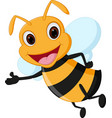 happy bee cartoon vector image vector image