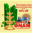 Happy Onam sale offer vector image vector image