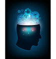 Head of the human mind consciousness imagination vector image vector image