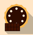 homemade chocolate pie flat vector image