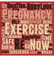 Is Your Pregnancy Exercise SAFE for baby text vector image vector image
