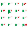 italy flag on a white vector image