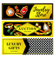 jewelry horizontal banners vector image