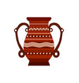 jug clay pottery pot vase ceramic pither milk vector image