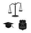 law and lawyer sign vector image