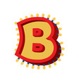 Letter b lamp glowing font vintage light bulb