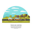 light traveling camping template vector image vector image