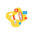 loudspeaker or megaphone for business promotion vector image vector image