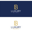 luxury logo b modern style vector image vector image
