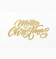 merry christmas card with golden glitter lettering vector image vector image