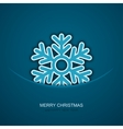 modern christmas snowflakes on blue vector image vector image