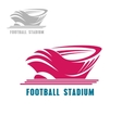 Modern football or soccer stadium icon vector image vector image