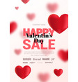 modern poster with blurry hearts for sale vector image vector image