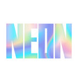 neon holographic modern abstract t-shirt fashion vector image