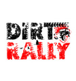 off-road hand drawn lettering vector image vector image