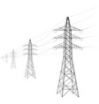 overhead power line a number of electro-eaves vector image