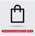 package icon in modern style for web site and vector image vector image