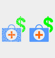 pixelated and flat financial medical case vector image vector image