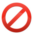 prohibitory sign vector image vector image