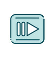 rec video player button social media line and fill vector image vector image