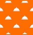 restaurant cloche pattern seamless vector image vector image