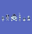 robots evolution creative cartoon characters of vector image