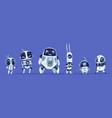 robots evolution creative cartoon characters of vector image vector image