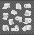 rolls of toilet paper on transparent background vector image