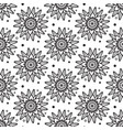 seamless black and white pattern zentangle design vector image vector image