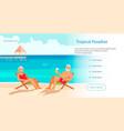 seniors at summer beach vector image vector image