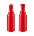 Set of Ketchup Bottle for Branding without label vector image vector image