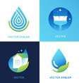 set of logo design templates in bright gradient vector image