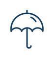 simple icon open umbrella with handle parasol vector image