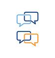 speech bubble icon chat symbol vector image vector image
