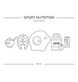 Sport Nutrition Products vector image vector image