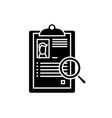summary black icon sign on isolated vector image vector image