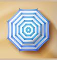 summer beach umbrella parasol sunshade top vector image vector image