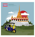 thailand landmark and travel attractions vector image