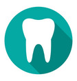 tooth icon dentist flat signsymbol vector image vector image