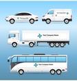Transport Advertisement Set vector image vector image