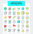 universal basic icons vector image vector image