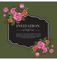Vintage invitation with roses