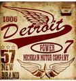Vintage man t shirt graphic design about detroit vector image vector image