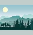 wolf wild animal vector image vector image