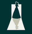 woman silhouette in dress vector image