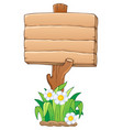 wooden signboard theme image 1 vector image